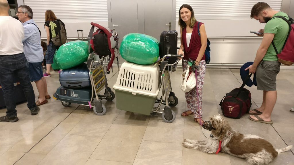Con todo nuestro equipaje